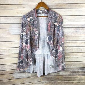 Anthropologie Weston Zaha Paisley Cardigan Size L